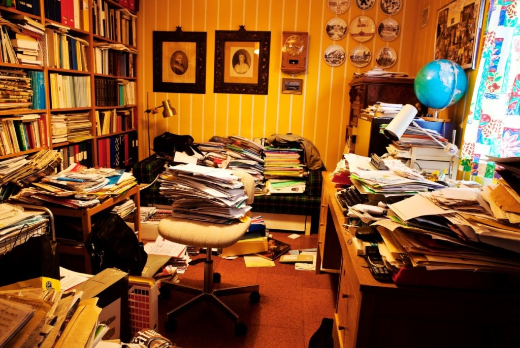 Worst places to clean - the study
