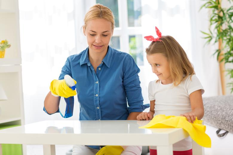 children-cleaning-house